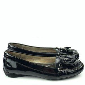 Sperry topsider flats size 8 Black patent leather